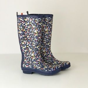 Anthropologie Tiny Floral Rain Boots Knee High 10
